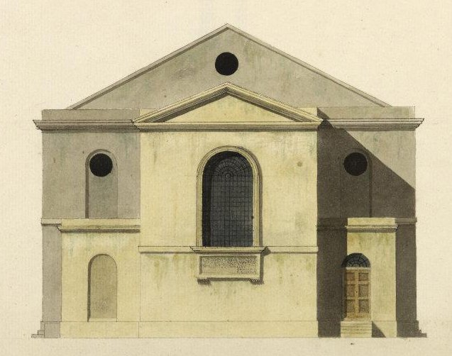 St Mary elevation of east end 1790.jpg